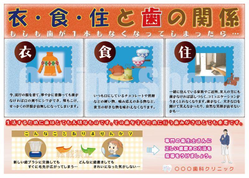 画像1: 衣食住と歯の関係ポスター (1)