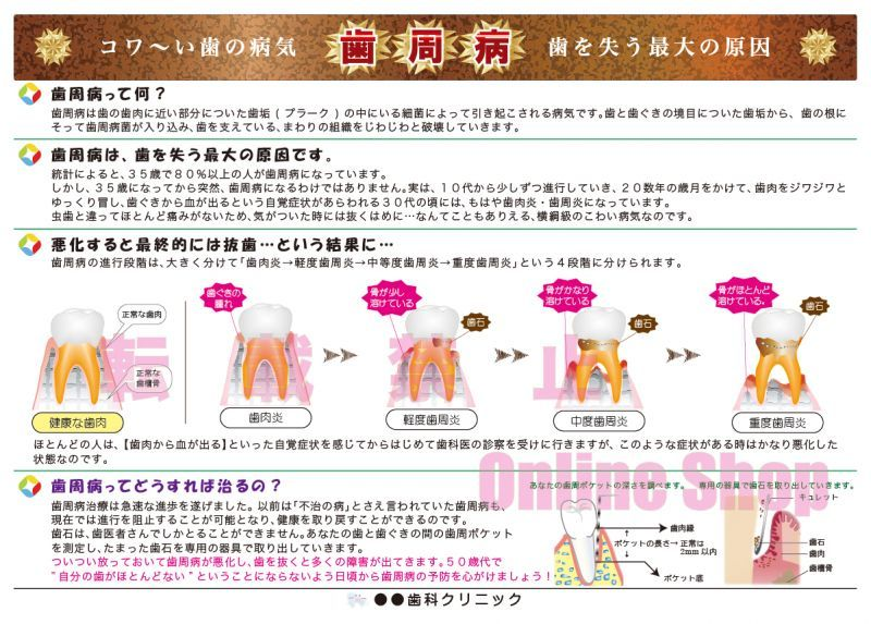 画像1: コワ〜い病気 歯周病ポスター (1)